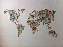 twistytwirls:  World Stamp Map (by Ben Terrett)