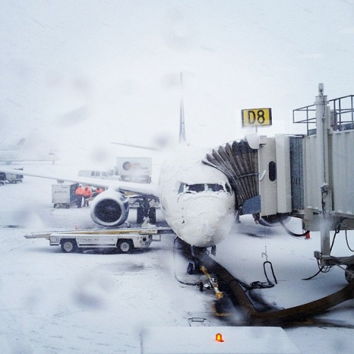 White out flight out. (at Salt Lake City International Airport)