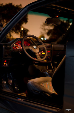 pluscraig:  The Cockpit of an E30 M3.
