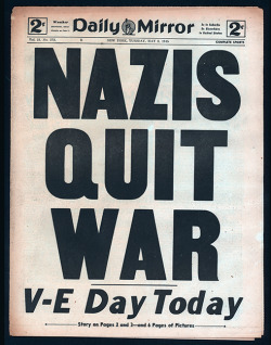motherjones:  nevver:  May 8, 1945  It's V-E Day.  USA! USA!