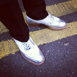 Silver brogues by Church's #madeinengland #london #shoeporn http://bit.ly/18ezt5j