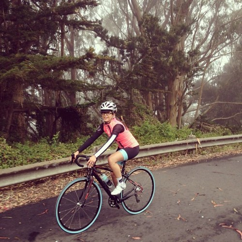 Rocio on her very first road ride #cykelsf #cyclofemme #weridetogether  (at Presidio of San Francisco)