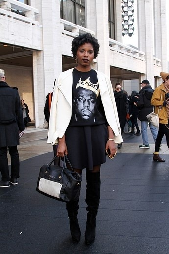 New York Fashion!! #Biggie never looked show chic ! #fashionweek #fashion #nyc #nycfashionweek