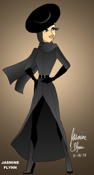 Long Grey Coat. a digital drawing by me, Jasmine Flynn :)