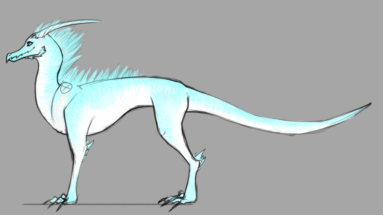 Random electric dragon with markings that you can baaaarely see at this  size