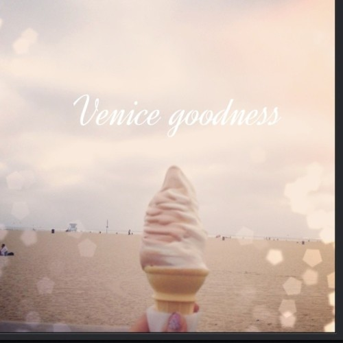 I love #icecream #venice #beach #goodtimes #lategram