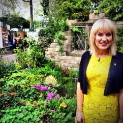 Presenter Nicki Chapman in a bright #boden number at the #RHSchelsea - what do you think to her look?