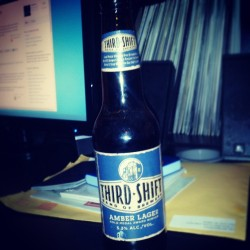 New brew. #thirdshift #beer