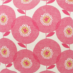 Flower Field in Rosy: Textile by Skinny laMinx ~ La