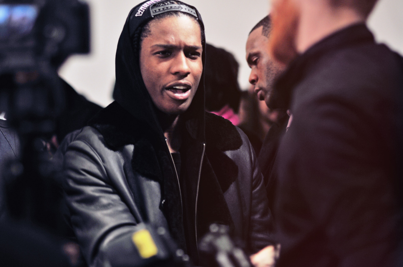 A$AP Rocky at the Public School presentation at Milk Studios