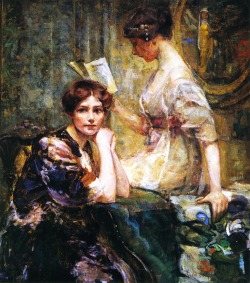 labellefilleart:  Two Women, Colin Campbell Cooper