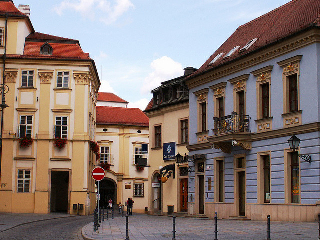 | ♕ |  Brno street - wandering into the past  | by © Pedro NC
