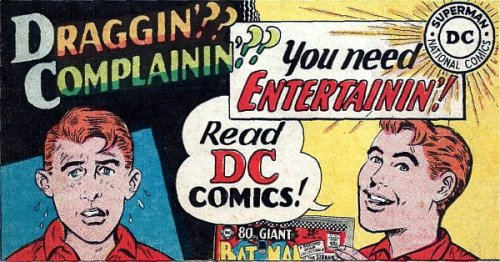 DC Comics in-house promo, 1967