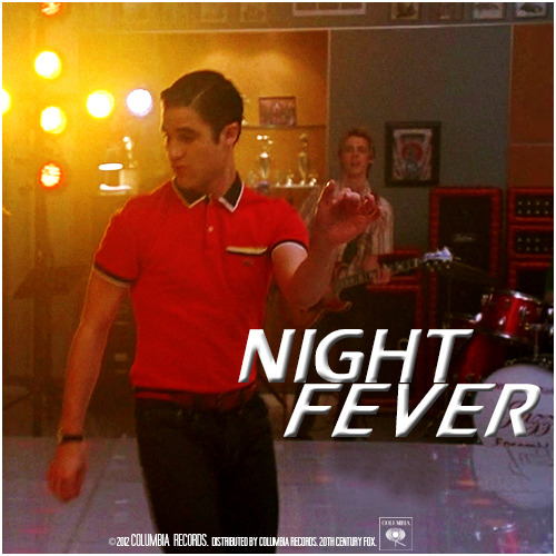 3x16 Saturday Night Glee-ver | Night Fever Requested Alternative Cover Request by crazy4darren