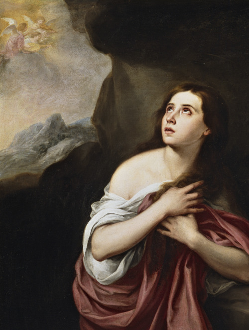 jaded-mandarin:  Murillo. Detail from Magdalena Penitente.