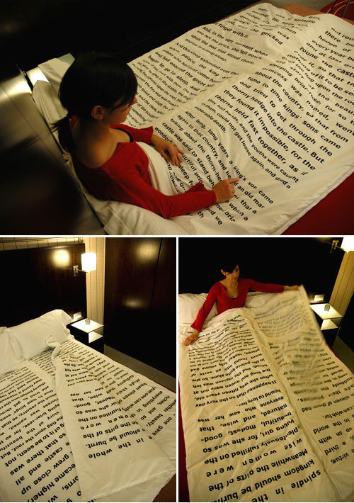fer1972:   Bedtime Stories Blanket designed by Tiago da Fonseca  Want this. Maybe in Harry Potter, though?? :D