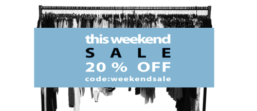 LAST DAY ! use the code WEEKENDSALE to get 20% discount in Sth online shop  only this weekend!!!