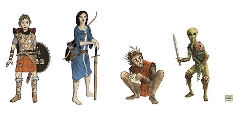 lost-in-line:  a few characters from the Prydain Chronicles by the great Lloyd Alexander. I've got a few things to adjust, but I figured I'd post it. -Spencer