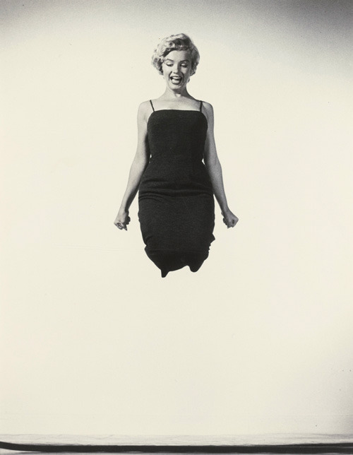 Marilyn Monroe Jumping, 1954 by Philippe Halsman  (from the Jump Book)