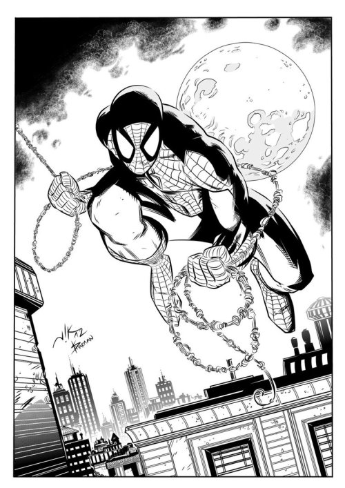 Spidey by Vik Bogdanovic Inks by *IanDSharman I'm going to be inking Vik on an upcoming project, so wanted to get a feel for inking over his pencils. It's also given me a chance to have more of a play with Manga Studio.