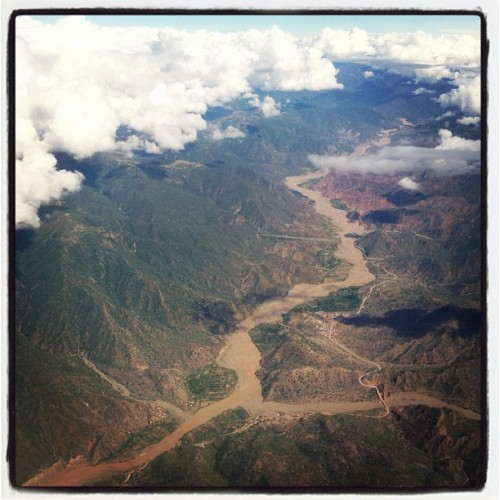 My view from the plane during the flight from Santa Cruz to Sucre last week.