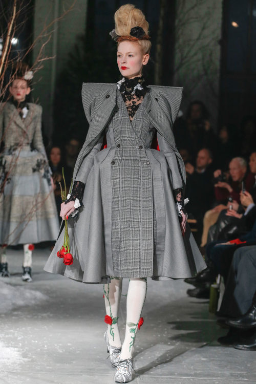 yourmothershouldknow:  Thom Browne Autumn/Winter 2013 New York Fashion Week  THOM BROWNE, YOU CRAZY FUCK. I love it.