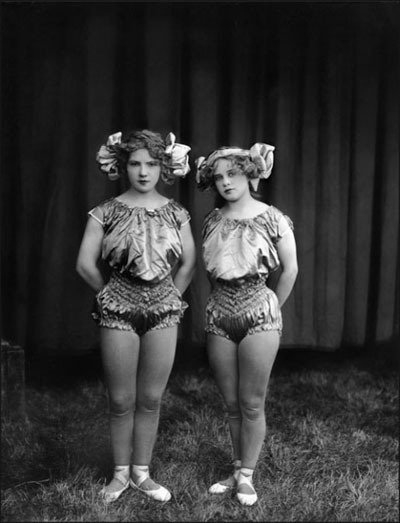 Iron Jaw Kimball Twins, 1920s by Frederick W. Glasier