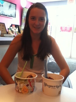 Had Yogurty's with Allie again :)