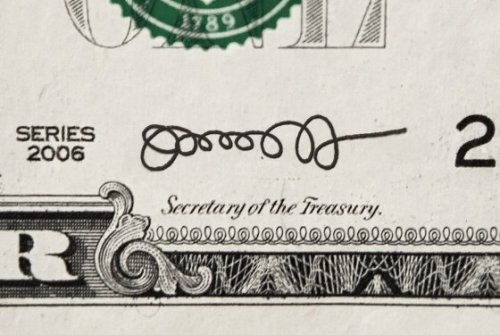 npr:  President Obama's pick for Treasury Secretary is Jack Lew — and here is his spirally signature imagined on a bill. It looks like what I write when I test an old pen. Current Treasury Secretary Timothy Geithner also had a squiggly signature but made it more legible when it came time to sign the nation's currency. See past examples of signers of U.S. currency here. — Heidi (via 'OoooooooO!': Jack Lew's Insane Signature Is Going to Be All Over Your Dollar Bills, Soon) Photo: New York Magazine  Oooooo0O