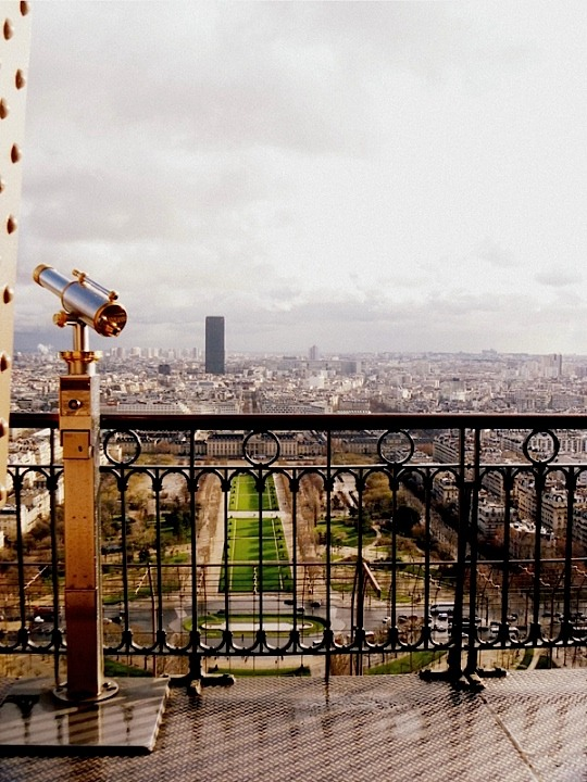 | ♕ |  Observation deck, Eiffel Tower  | by © Julia Caffarena
