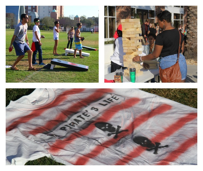 Today at UT's Pirate Fest there was everything from life size board games to T-Shirt making!