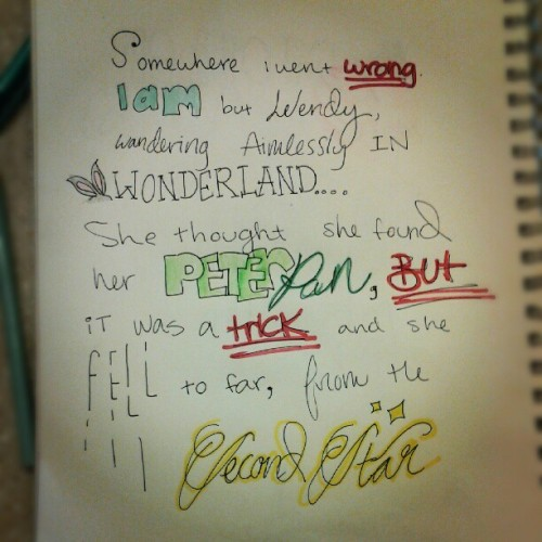 holdingout4love:  #peterpan #wonderland #neverland #Wendy #secondstartotheright