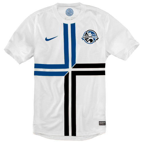 My Take on FC Kansas City. I saw a couple other mockups on the tag and figured I'd have a go, especially since I think I'm gonna support KC. I chose the template from Portugal's Away kit for Euro 2012 since the lines in the cross remind me of the lines on the KC crest. Personally, I love it but I would love to hear what all my fellow Woso fans think. If I get good enough reviews, I may do some more.