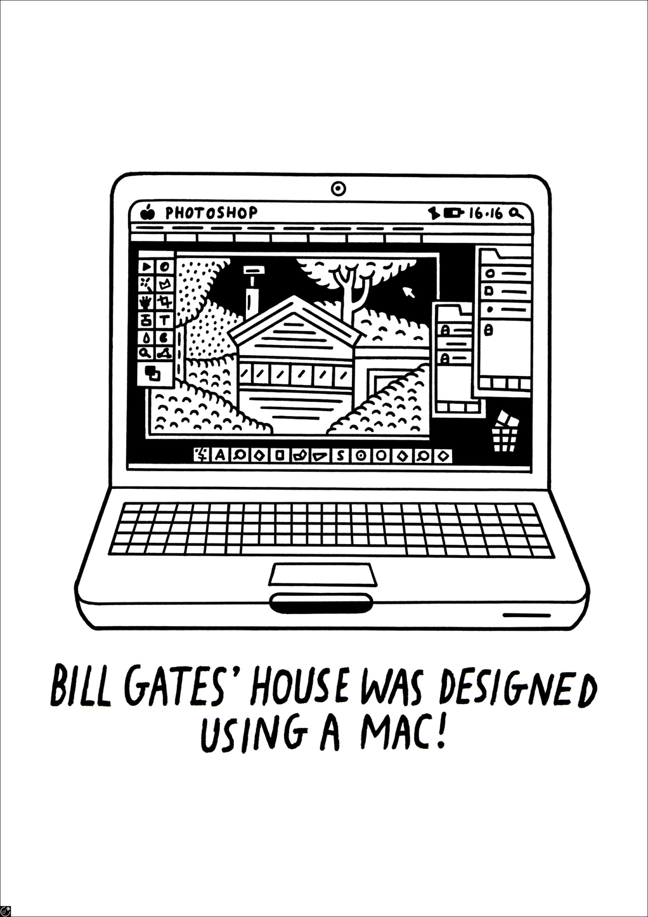 Bill Gates' house was designed using a Mac!