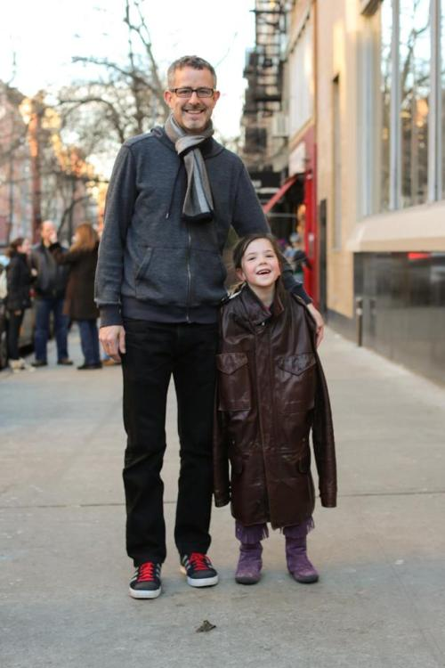 "humansofnewyork:  ""What's your favorite thing about your dad?"" ""He lets me beat him up and doesn't cry."""