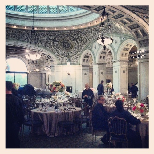 Busy bees getting set for another event  (at Chicago Cultural Center)
