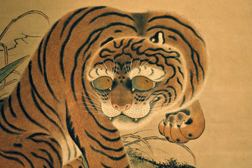 British Museum, Japanese tiger on a scroll painting by Futurilla on Flickr.