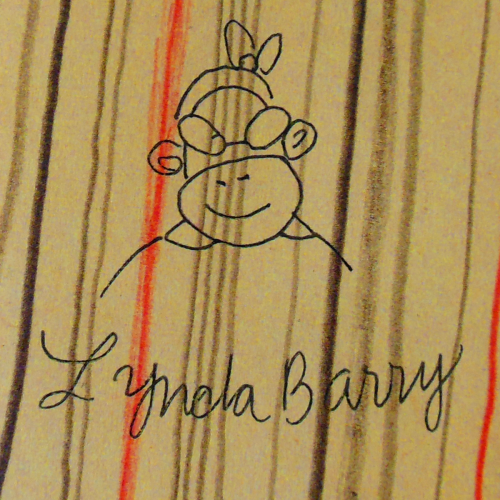 You guys Lynda Barry literally just stumbled out of the supply closet and took over my Graphic Narrative class.  She told us of the wonders of comics and making art and she signed our books and also she's really cool and has a tumblr herself?