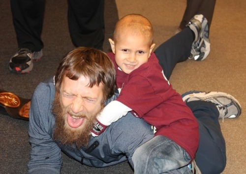 Conor Michalek is a 7-year-old with brain and spine cancer. And he recently got to meet and beat up his wrestling hero Daniel Bryan.