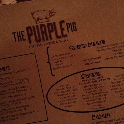 (; (at The Purple Pig)