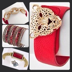 Shop on www.LilXurious.com #red #bracelets #goldandred #jungle #fierce #bangles #shopaholic #leopard #cheetah #panther #animalprint #hot #accessories #fashion #armcandy #lilxurious