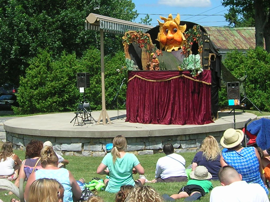 "Artwork of the Day (http://ncpr.org/artwork): ""Sister Rain and Brother Sun,"" puppet theater. Artist: Catskill Puppet Theater. The Caskill Puppet Theater will perform Saturday, July 12 at 10:30 am as part of French Festival in Cape Vincent, NY"