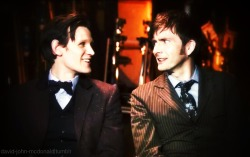 david-john-mcdonald:  Matt Smith & David Tennant DW50th Behind the Scenes