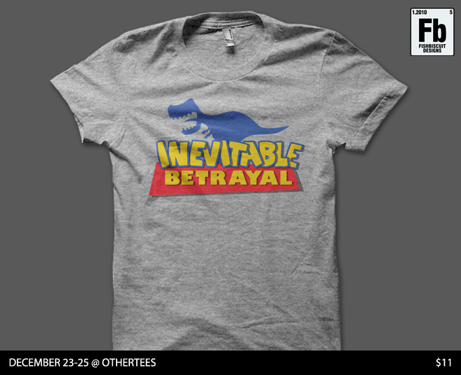 """A Story of Inevitable Betrayal"" by fishbiscuit. For sale 12/23-12/15 at Othertees.com. http://www.othertees.com/"