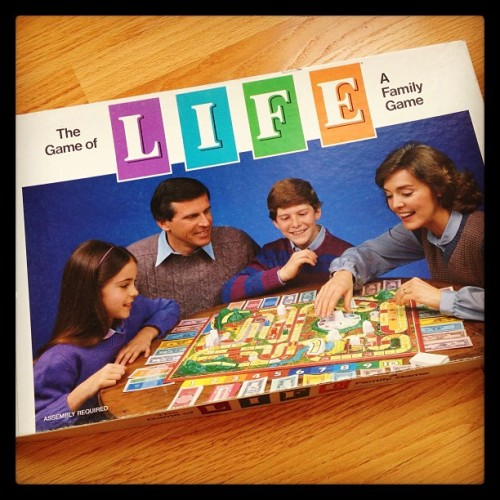 Look what I ran across—the Game of Life from my childhood!