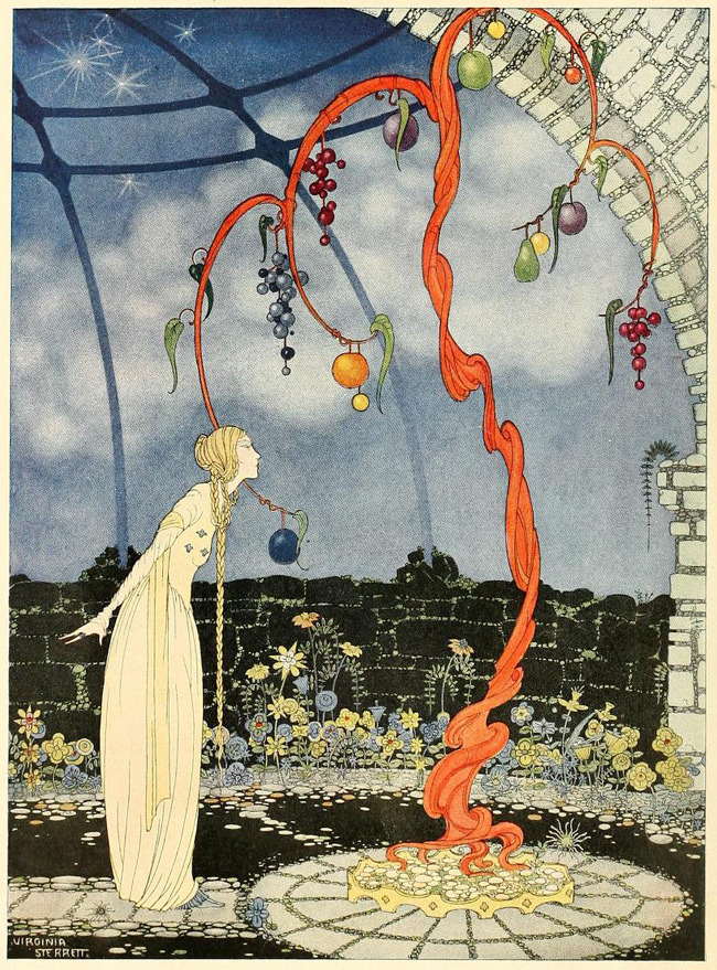 sextuplet:  Virginia Frances Sterrett, illustration for Old French Fairy Tales.