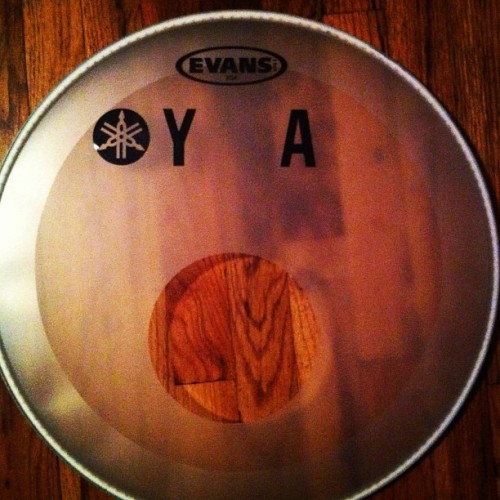 This is the front bass drum head from the Ingrid Michaelson Fall Acoustic Tour 2012, as well as many a Jenny Owen Youngs and Elle King show. Today, I will sign it and give it away randomly to someone who Likes this on Instagram and/or reblogs this on Tumblr! #freestufffriday #freestuff #ingridmichaelson #jennyowenyoungs #elleking #drums #touring #evans #yamaha #giveaway #autograph #music #drummer #tumblr #elliotjacobson #instagram