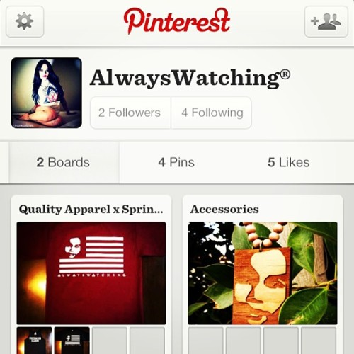 Created a Pinterest account. Follow us and we shall do the same. #alwayswatching #siempremirando #awclicka #pinterest