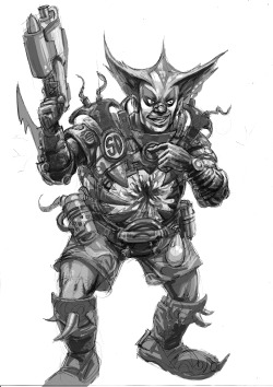 Rejected ideas for the 2000AD forum comp SD agent Chaos Clown…