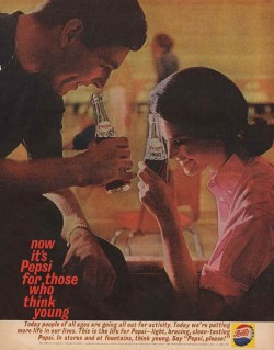 Pepsi ad´s during the Mad Men era what a difference from now ones…!